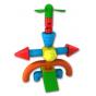 Магнитный конструктор СТРОИТЕЛЬ. Базовый 30 дет + Колесная база. Комплект на группу