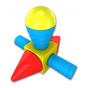 Магнитный конструктор СТРОИТЕЛЬ. Базовый 30 дет + Колесная база. Стартовый набор