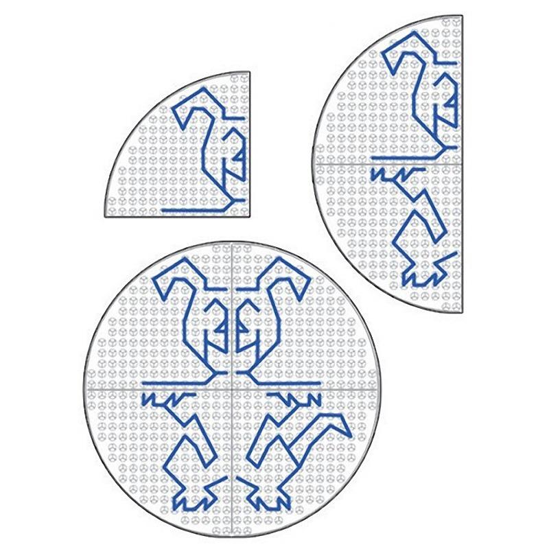 Развивающий конструктор Набор Полидрон Узорная шнуровка Круглая