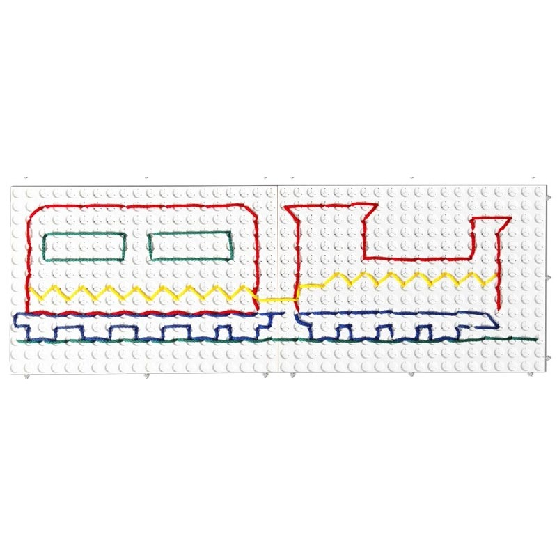 Развивающий конструктор Набор Узорная шнуровка №1 (Набор белых панелей для создания композиций)