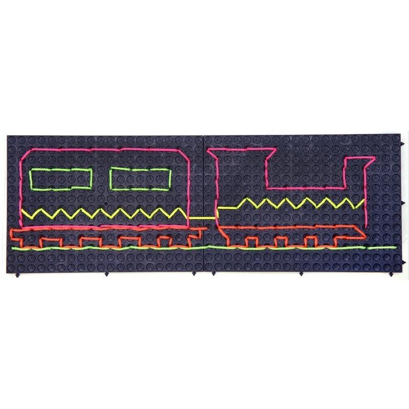Развивающий конструктор Набор Узорная шнуровка №2 (Набор черных панелей для создания композиций)