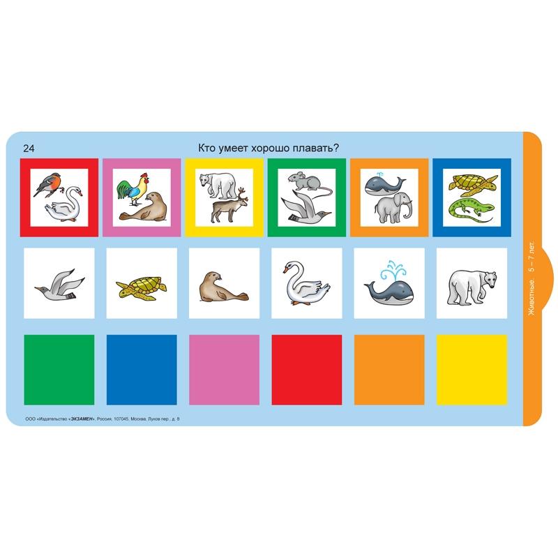 Развивающий тренажёр Разноцветные окошки 5-7 лет. Дополнительный набор карточек к базовому комплекту