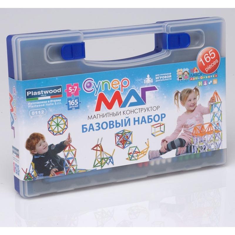 Магнитный конструктор СУПЕРМАГ. Базовый набор 5-7 лет.
