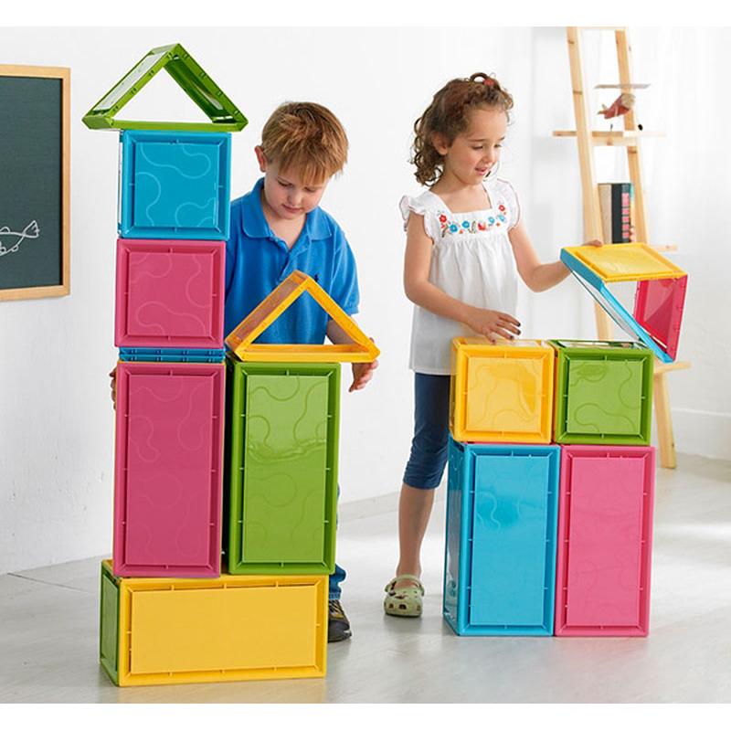 Сборные цветные строительные блоки