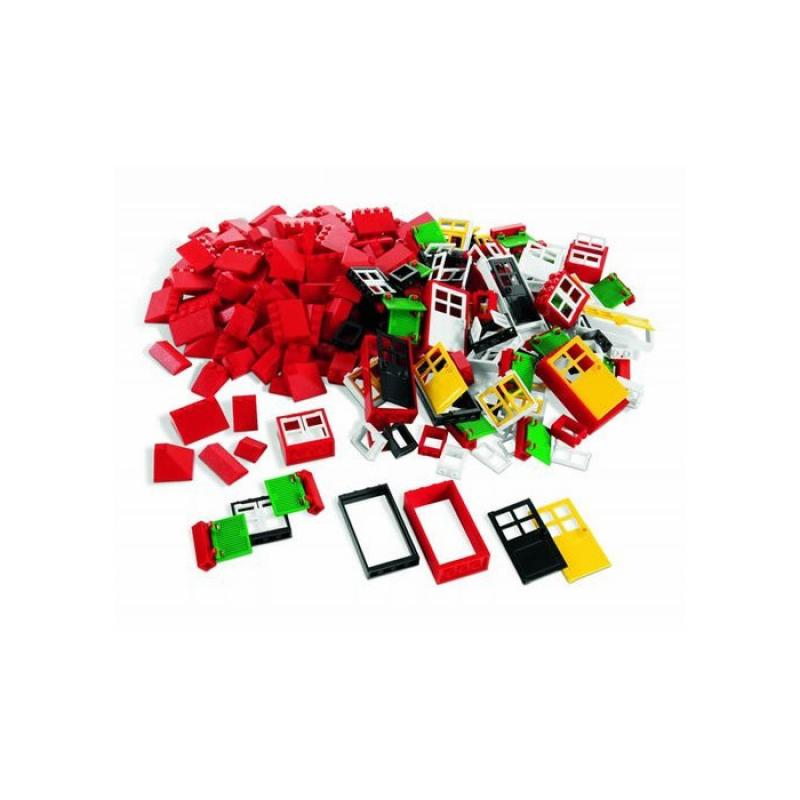 Окна, двери и черепица для крыши LEGO®
