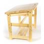Стол-парта регулируемая, столешница 700х500, опоры деревянные, ростовая группа 0-3
