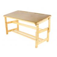 Стол-парта регулируемая, столешница 1100х500, опоры деревянные, ростовая группа 0-3