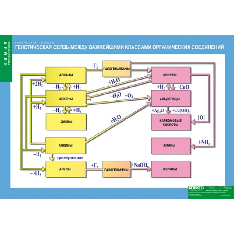 ХИМИЯ Генетическая связь между важнейшими классами органических соединений