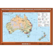 К-0027 - Австралия и Новая Зеландия. Социально-экономическая карта