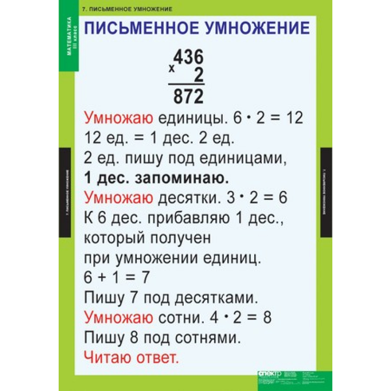 МАТЕМАТИКА   3 кл.