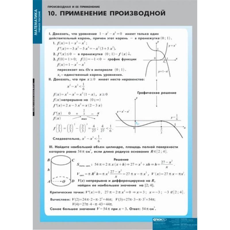 МАТЕМАТИКА  Производная и ее применение.