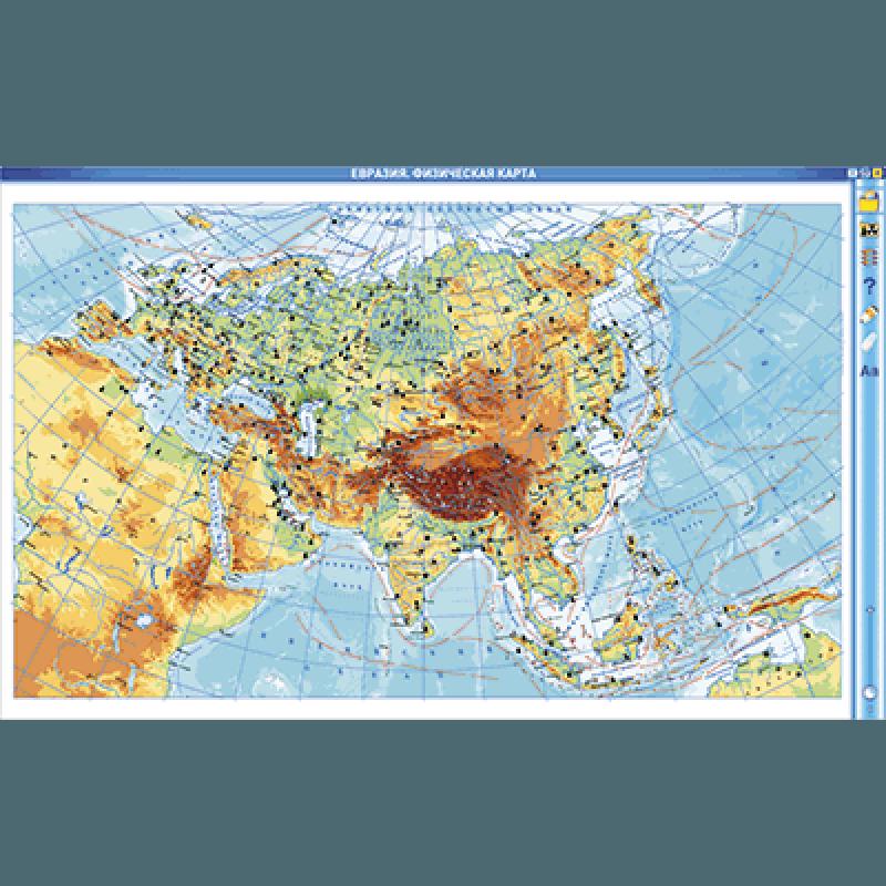 Интерактивные карты. География материков и океанов. 7 класс. Северные материки.