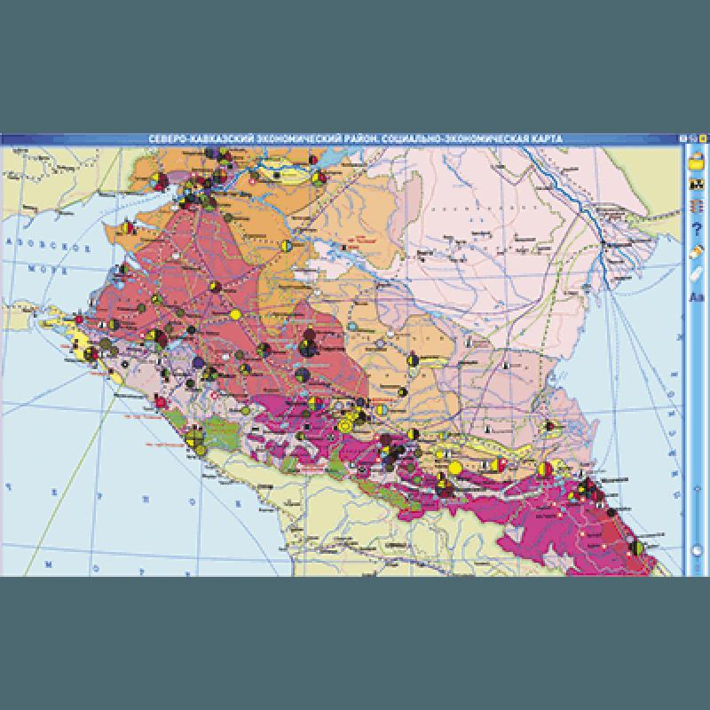 Интерактивные карты. География России. 8–9 классы. Географические регионы России. Европейская часть.