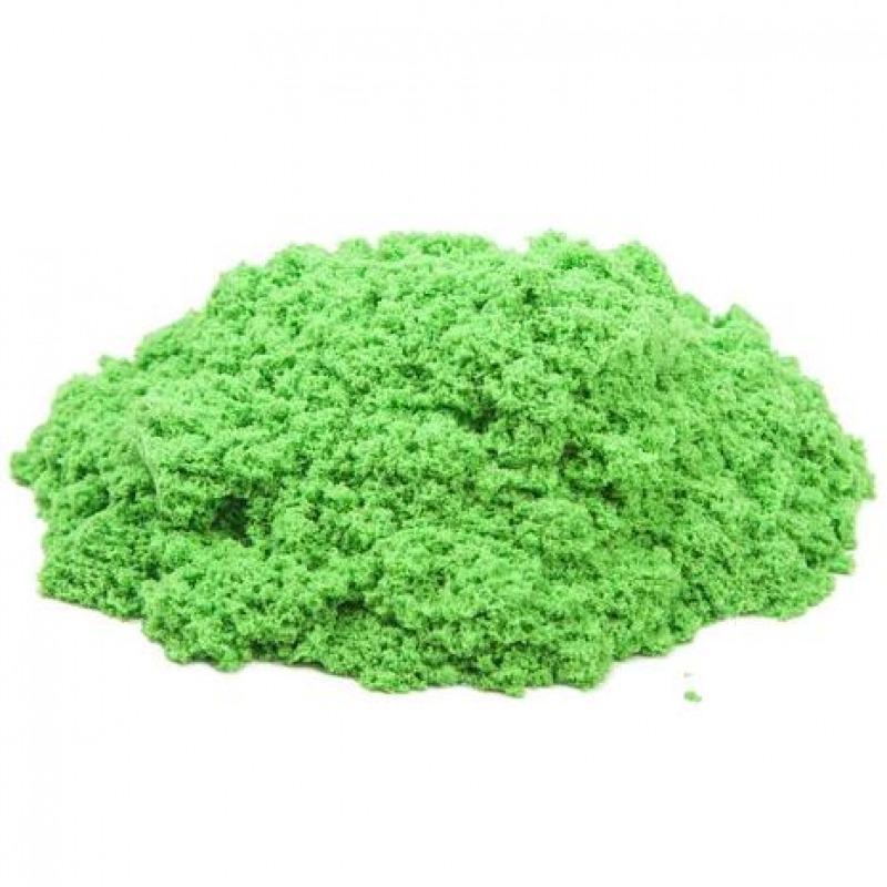 Космический песок 1 кг. Цвет - зеленый