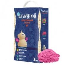 Набор с формочками и песочницей 3 кг. Цвет - розовый