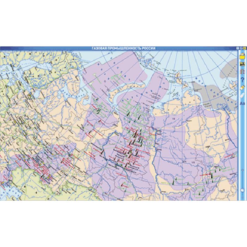 Интерактивные карты. География России. 8–9 классы. Население и хозяйство России.