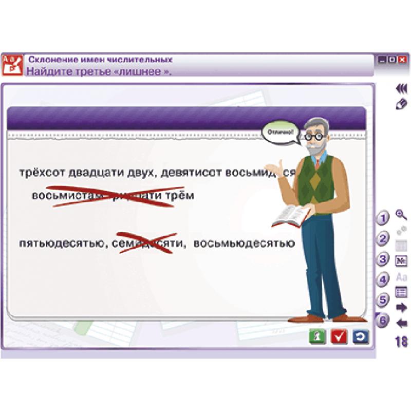 Наглядный русский язык. 6 класс